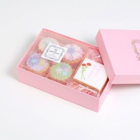 【母の日】アイシングクッキーとカップケーキ詰合せ(「お母さんありがとう」)