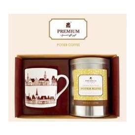 【送料無料・早割20%OFF!】ポティエコーヒーオリジナルギフト 自家焙煎コーヒー豆とマグカップのセット