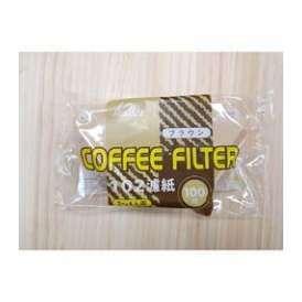 コーヒーフィルターペーパー NK102濾紙 ブラウン 100枚入