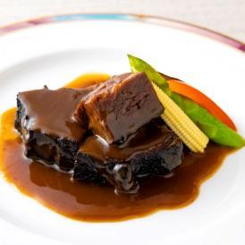当店自慢!口の中でとろける美味しさの牛ほほ肉の醤油煮込みと焼売の人気セット