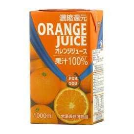 ナイルフォーユー オレンジ100% 1000ml×6本(代引き不可)