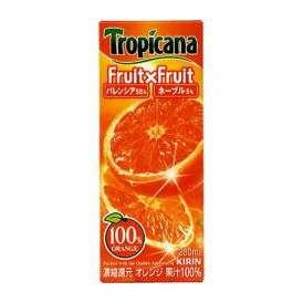 キリン トロピカーナ ジュース フルーツ×フルーツ オレンジ 紙パック 250ml×24本(代引き不可)