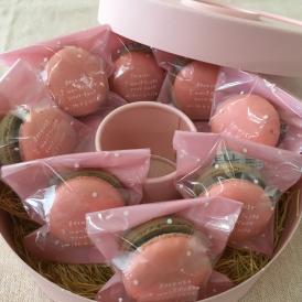 マカロンのギフト(ラズベリー)バレンタインホワイトデー贈り物お歳暮母の日GWゴルフ記念品うちカフェ