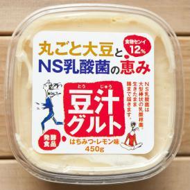 大豆丸ごとの発酵食品 豆汁(とうじゅう)グルト・ハチミツレモン 【450g × 4個セット】