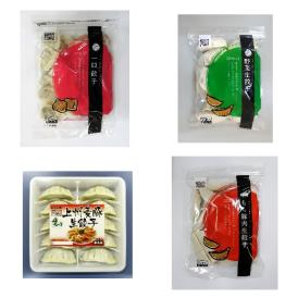 国産野菜、国産豚肉を使用したこだわりの4種類の餃子セットです。