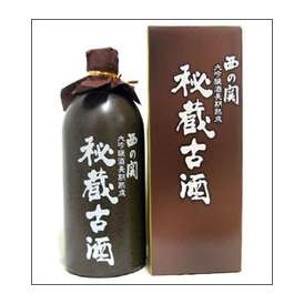 西の関 大吟醸 秘蔵古酒 720ml壷 萱島酒造 大分県 化粧箱入