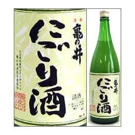 亀の井 にごり酒 1800ml瓶 亀の井酒造 大分県 化粧箱なし【取寄商品・常温流通】