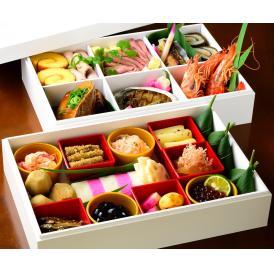 【送料無料】厳選素材使用 京都の伝統おせち二段重 3~4人前
