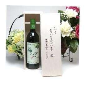 父の日♪【贈り物】皮が薄く果肉が多い梅を使用 梅マッコリ 750ml(韓国)  いつもありがとう木箱セット