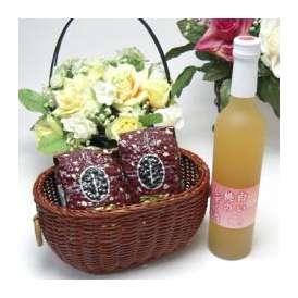 母の日♪【贈り物】桃果汁はとっても贅沢桃好きな方へ♪味醂仕込み 信州長野産桃果汁80% 白い桃のしずく酒 500ml +オススメ珈琲豆(特注ブレンド200g、ハッピーブレンド200g)