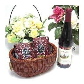 母の日♪【贈り物】脱アルコールワイン赤750ml(カ−ルユングメルロー 750ml ドイツ赤ワイン)+オススメ珈琲豆(特注ブレンド200g、ハッピーブレンド200g)