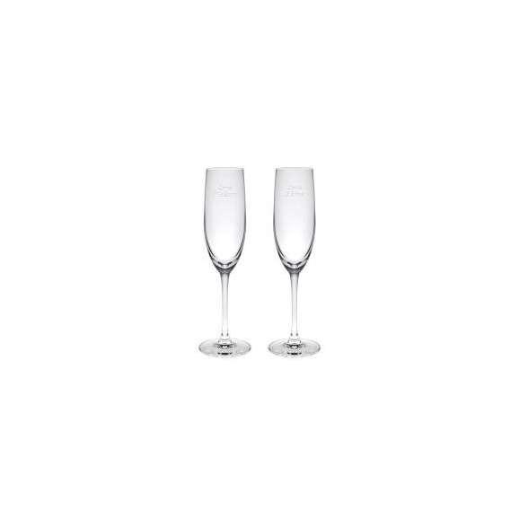 【送料無料】【名入れ】パローネ シャンパーニュペア レリーフグラス