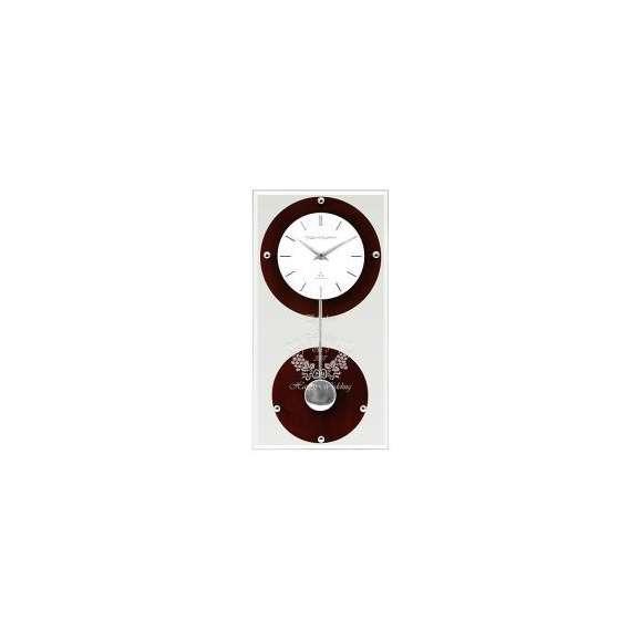 【送料無料】【名入れ】ペンデュラムクロック オクト ブラウン (電波時計) レリーフクロック