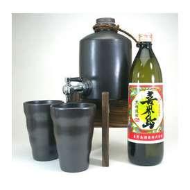 【送料無料】焼酎サーバー豪華セット(黒糖焼酎喜界島900ml)A5 【贅沢な焼酎サーバー】