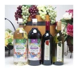 パーティ4本セット 日本1500ml赤白×イタリア750ml赤白ワインセット
