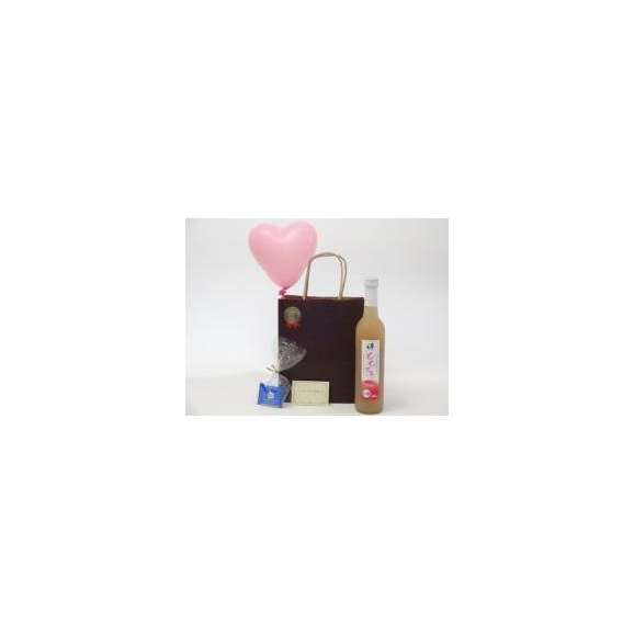 贈り物リキュールセット(奥の松酒造 桃リキュール ももとろ 500ml 7%(福島県))メッセージカード ハート風船 ミニチョコ付き01