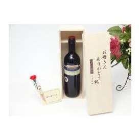 母の日 ギフトセット ワインセット お母さんありがとう木箱セット(ヴィーニャ・ペーニャ 赤ワイン(スペイン)750ml)母の日カード お母さんありがと