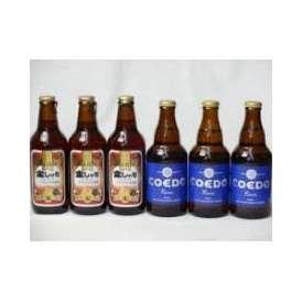 クラフトビールパーティ6本セット 金しゃちアルト330ml×3本 コエドRuri333ml×3本