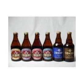 クラフトビールパーティ6本セット コエドKyara333ml コエドRuri333ml ミツボシヴァイツェン330ml ミツボシウィンナスタイルラガー330ml ミツボシピルスナー330ml ミツボシ