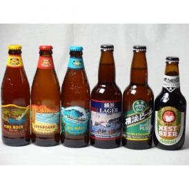 クラフトビールパーティ6本セット ハワイコナビールファイアーロック・ペールエール355ml ロングボードアイランドラガー355ml ビッグウェーブ・ゴールデンエール355ml 横浜ラガー330ml 横