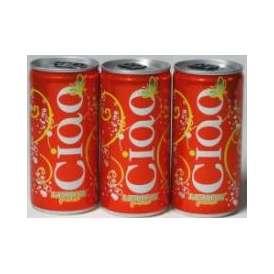 チャオ・レモン・ピーチ 赤  ベビーサイズ 200ml缶(イタリア・スパークリングワイン・赤)甘口 200ml×9本CIAO LEMON PEACHAlc.5.0%
