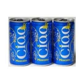 チャオ・モスカート NV ベビーサイズ 200ml缶(イタリア・スパークリングワイン・カンティネ・スガルツィ)甘口 200ml×12本 CIAO MOSCATOAlc.8.0%