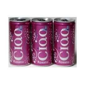 チャオ・ロザート NV ベビーサイズ 200ml缶(イタリア・スパークリングワイン・ロゼ)やや辛口 200ml×15本CIAO ROSATOAlc.10.5%