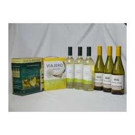 チリ産大容量白ワイン飲み比べセット(VIAJERO(ヴィアヘロ 白ワイン  3000ml サンタ・レジーナ シャルドネ 白ワイン  3000ml クレマスキ リゲロ ビアンコ チリ白ワイン  750m