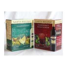 4本セット チリ大容量飲み比べセット(サンタ・レジーナ カベルネ・ソーヴィニヨン 赤ワイン フルボディ3000ml×4本  サンタ・レジーナ シャルドネ 白ワイン  3000ml×4本)