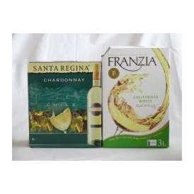 3セット 大容量飲み比べセット(サンタ・レジーナ シャルドネ 白ワイン  3000ml×3本 フランジア カリフォルニア ホワイト 白ワイン やや辛口 3000ml×3本)