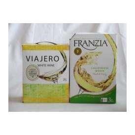 4セット 大容量飲み比べセット(フランジア カリフォルニア ホワイト 白ワイン やや辛口 3000ml×4本 ヴィアヘロ 白ワイン やや辛口 3000ml×4本)