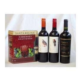 チリ産大容量赤ワイン飲み比べセット(サンタ・レジーナ カベルネ・ソーヴィニヨン 赤ワイン フルボディ3000ml デル・スール・カベルネソーヴィニヨン チリ赤ワイン フルボディ 750ml デル・スー