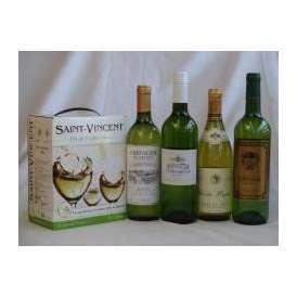 フランス産大容量ワイン白飲み比べセット2(サン ヴァンサン ブラン フランス 白ワイン 辛口 3000ml シュヴァリエ・デュ・ルヴァン 750ml キュべェ・ブレヴァン 750ml パスカル シータ