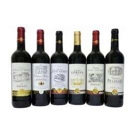 2セットセレクション金賞受賞フランスボルドー赤ワイン6本セット(トリプル金賞赤ワイン1本・金賞赤ワイン5本) 750ml×12本