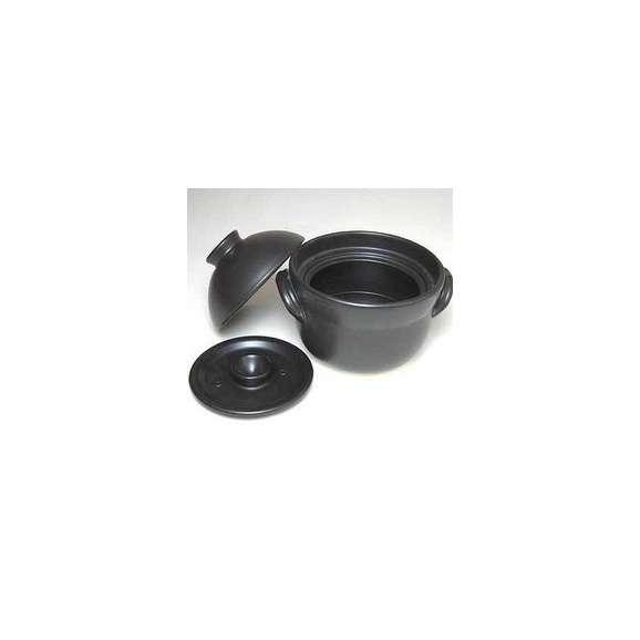 大黒窯セラミック1~2合炊きIHごはん鍋(日本製萬古焼き)【焼肉プレート】