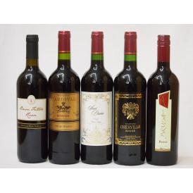 セレクションセレクト 赤ワイン 5本セット ( フランスワイン 4本 イタリアワイン 1本)計750ml×5本