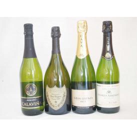 ワインセット ドンペリ飲み比べ4本セット(ドンペリニヨン ギフト箱付 白 正規輸入品750ml+世界の厳選スパークリングワイン)