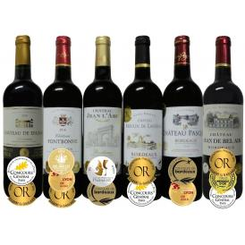 ALLダブル金賞受賞 フランスボルドー赤ワイン6本セット 赤ワインセット ソムリエ厳選 750ml×6本