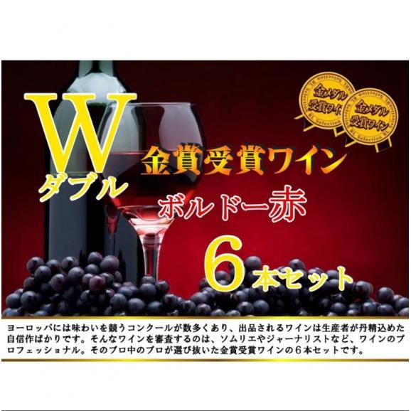 ALLダブル金賞受賞 フランスボルドー赤ワイン6本セット 赤ワインセット ソムリエ厳選 750ml×6本04