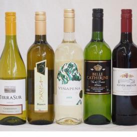 送料無料ワインセット 赤ワイン 白ワイン 特選高品質ワイン5本福袋