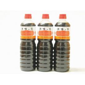 調味の素カツオだし入 ヤマコノのデラックス醤油 味噌平醸造(岐阜県)ペット 1000ml×3