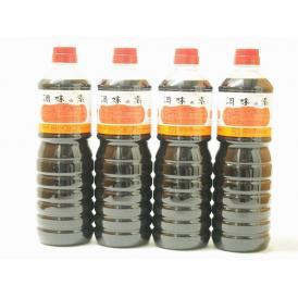 調味の素カツオだし入 ヤマコノのデラックス醤油 味噌平醸造(岐阜県)ペット 1000ml×4
