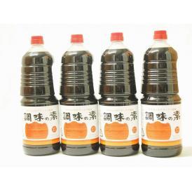 調味の素カツオだし入 ヤマコノのデラックス醤油 味噌平醸造(岐阜県)ペット 1800ml×4