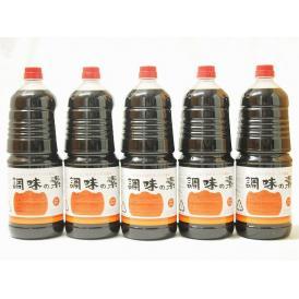 調味の素カツオだし入 ヤマコノのデラックス醤油 味噌平醸造(岐阜県)ペット 1800ml×5