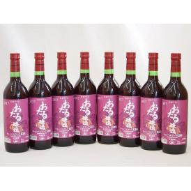 生葡萄酒 日本産葡萄100%使用 おたる醸造 キャンベルアーリ辛口赤ワイン(北海道)720ml×8