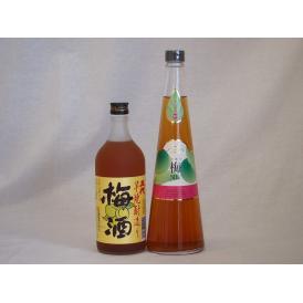 贅沢梅酒2本セット(芋焼酎仕込五代梅酒(鹿児島) 手作り梅酒(宮崎県)) 720ml×2本