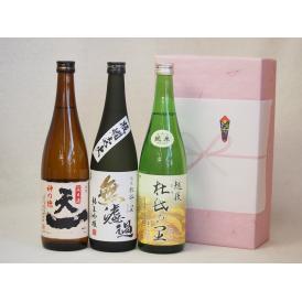 年に一度の醸造日本酒贈り物3本セット(杜氏の里 純米 無濾過 純米吟醸 早川酒造 天一純米(三重県)