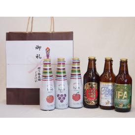 贈り物クラフトビールとリキュール6本セット(ヒュヴァ リンゴサワーalc.5% ヒュヴァ 巨峰サワー