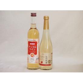 りんごワイン2本セット(信州林檎シードル アップルワイン) 500ml×2本