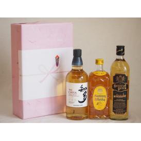 贈り物ウイスキー3本セット(知多 43度 ハウスオブピアーズスコッチ(イギリス) 角瓶 40度) 7